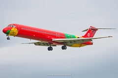 DAT MD-83 OY-RUE at Newcastle