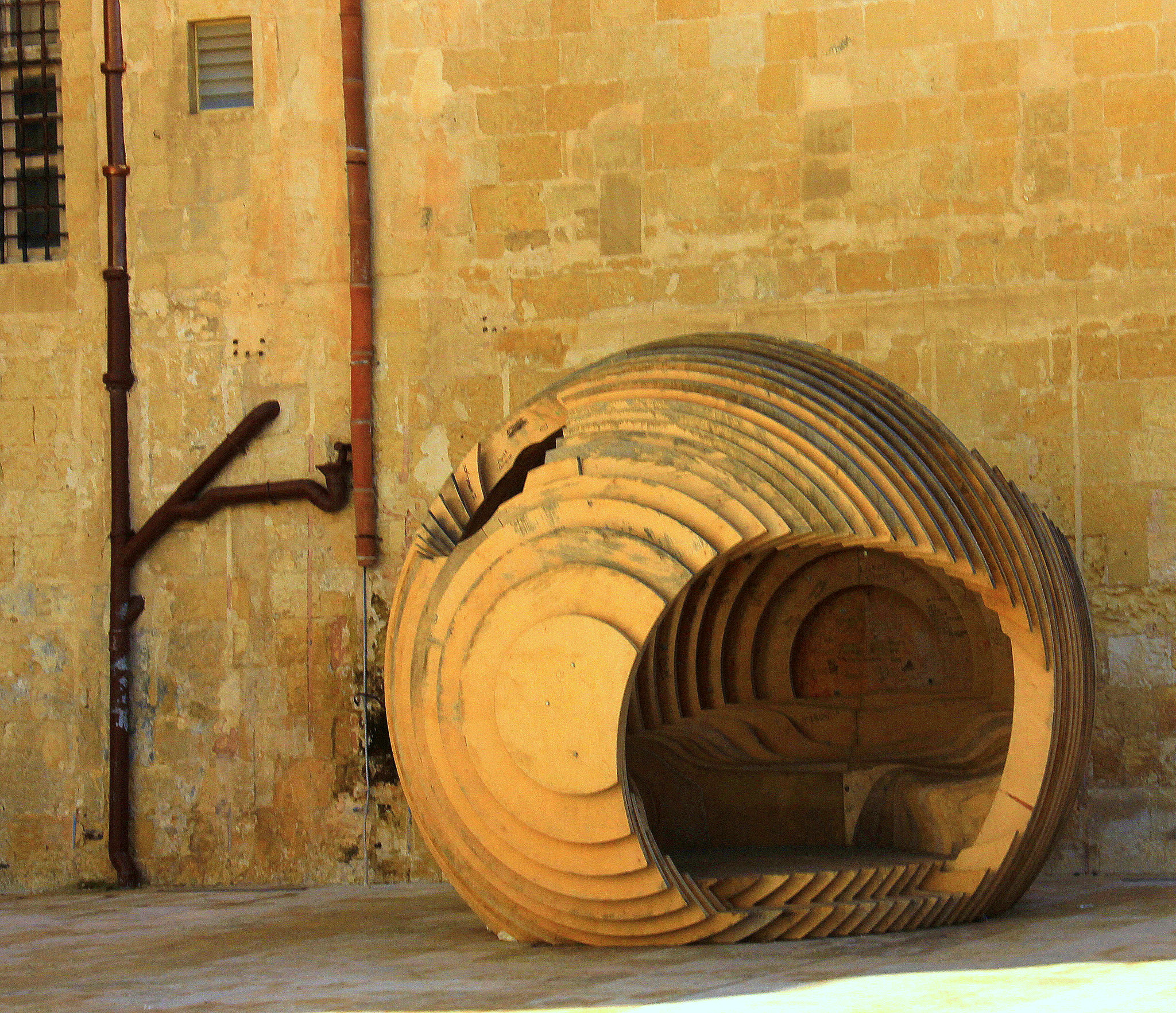 Installation art pieces of Valletta