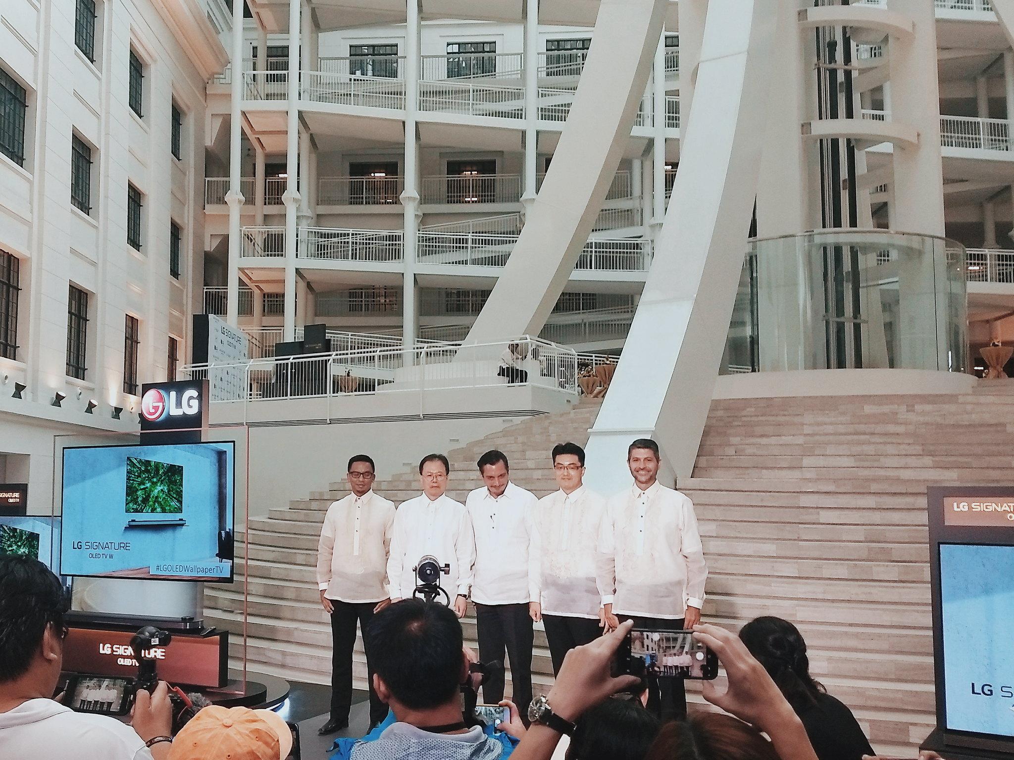#LGOLEDWallpaperTV LG OLED Wallpaper TV Launch National Museum