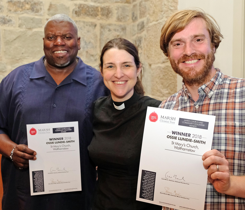 Ossie Lundie-Smith, Rev Vanessa Conant, Sam Jones from Soundthread (c Mike Swift)