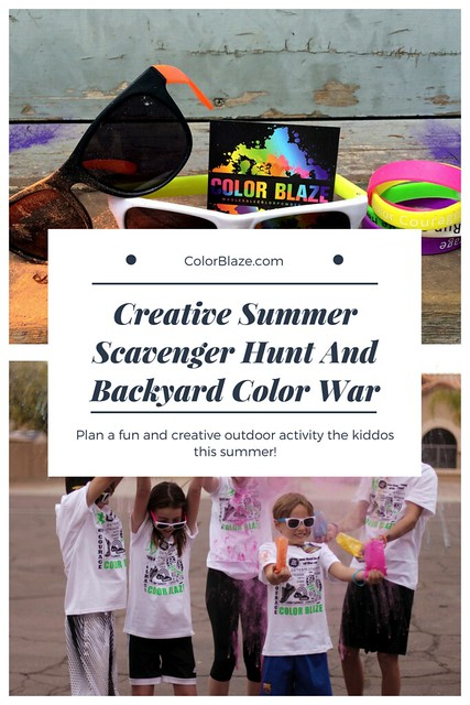 Color Powder Scavenger Hunt And Backyard Color War