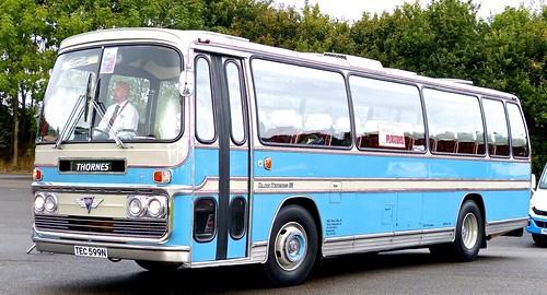 TEC 599N 'Thorne's. AEC Reliance / Plaxton Elite Express on Dennis Basford's railsroadsrunways.blogspot.co.uk