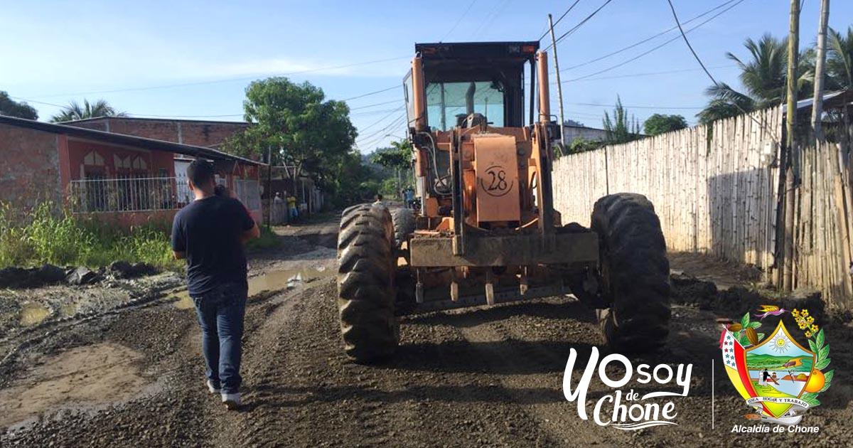 Ciudadela Mario Loor recibe mejoramiento en calle principal