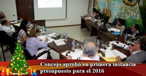 Concejo aprobó en primera instancia presupuesto para el 2016