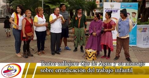 Teatro callejero Ojo de Agua y su mensaje sobre erradicación del trabajo infantil