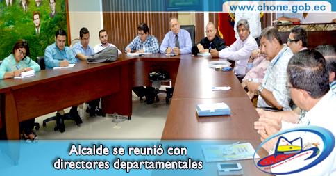 Alcalde se reunió con directores departamentales