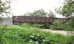 Pont en poutre à treillis à Chaussin sur l'Orain
