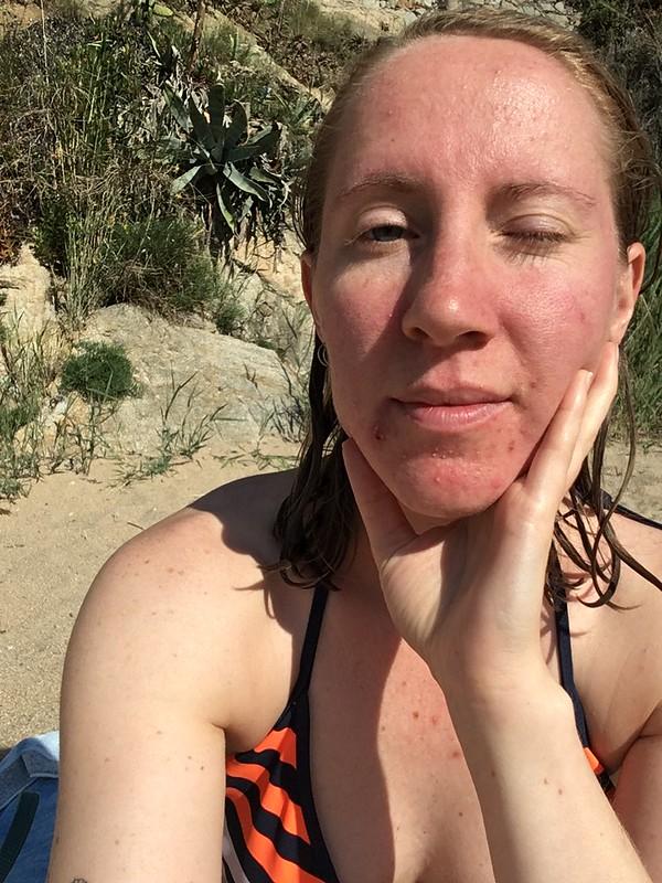 monday, me, morning swim, calella de palafrugell