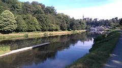 Chateauneuf du Faou vu du canal de Nantes à Brest
