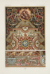 17th Century pattern from L'ornement Polychrome (1888) by Albert Racinet (1825–1893). Digitally enhanced from our own original 1888 edition.