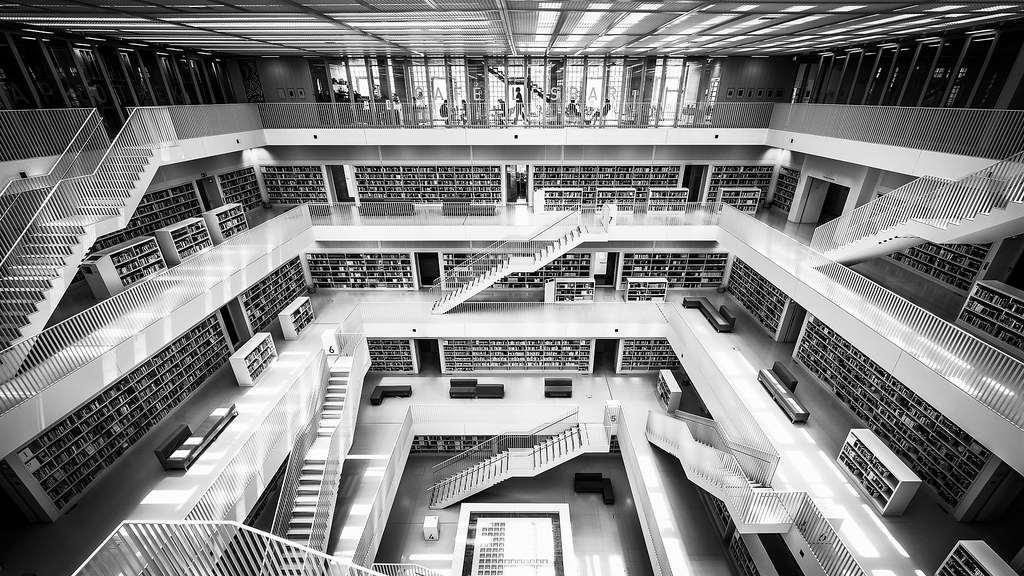Stadtbibliothek - Stuttgart, Germany - Architecture photography