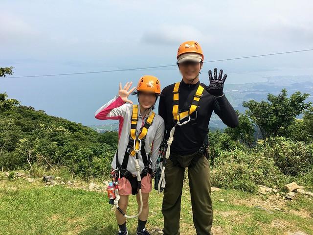 蓬莱山 琵琶湖バレイ ジップライン LINE7 MountainHawk(クマタカ) 記念撮影