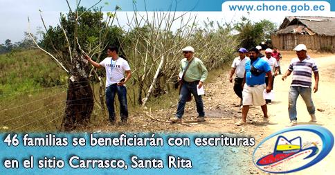 46 familias se beneficiarán con escrituras en el sitio Carrasco, Santa Rita