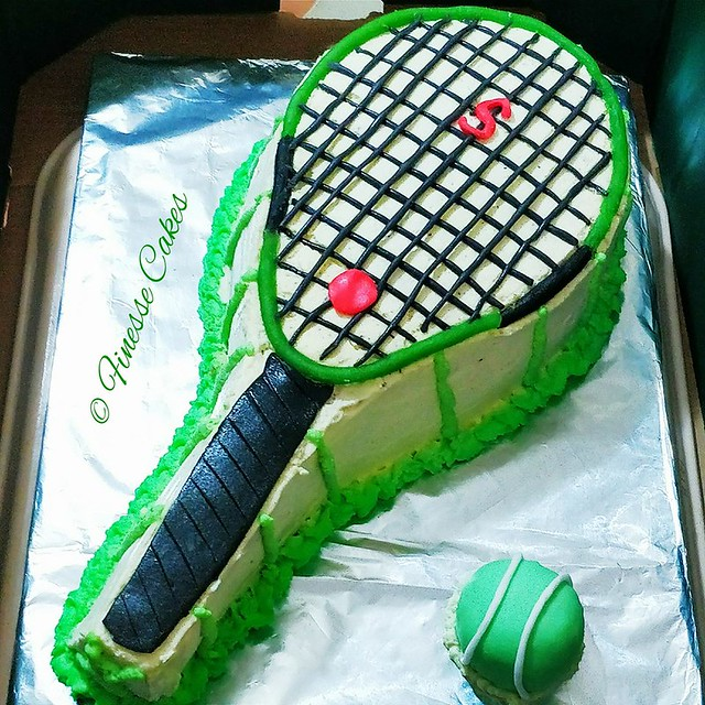 Tennis Theme Cake by Finesse Cakes