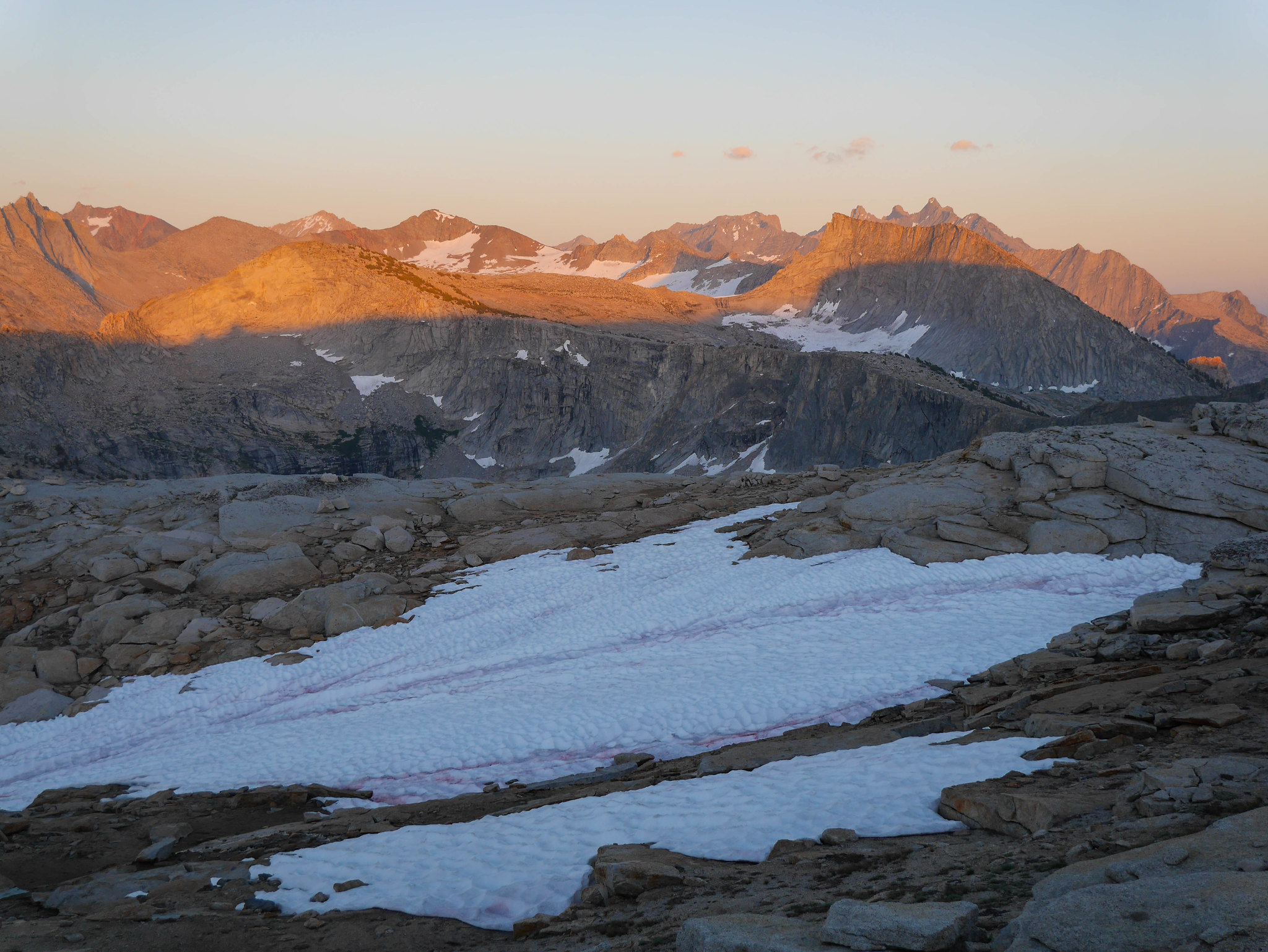 Alpenglow on Glacier Divide