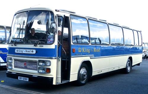 HRY 698V 'King of the Road'. Bedford YMT / Plaxton Supreme IV on Dennis Basford's railsroadsrunways.blogspot.co.uk