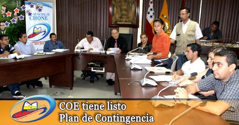 COE tiene listo Plan de Contingencia