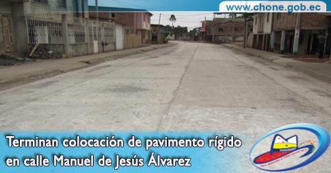 Terminan colocación de pavimento rígido en calle Manuel de Jesús Álvarez