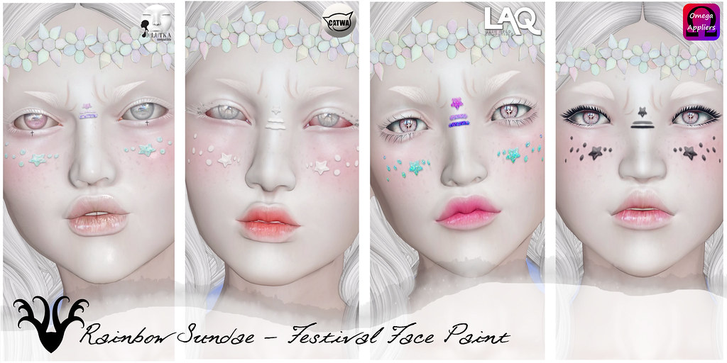 *Rainbow Sundae* Festival Face Paint @ Cosmetic Fair