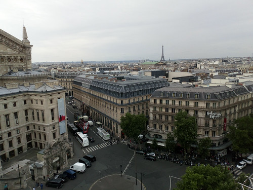 Les Galeries Lafayette rooftop view over Paris