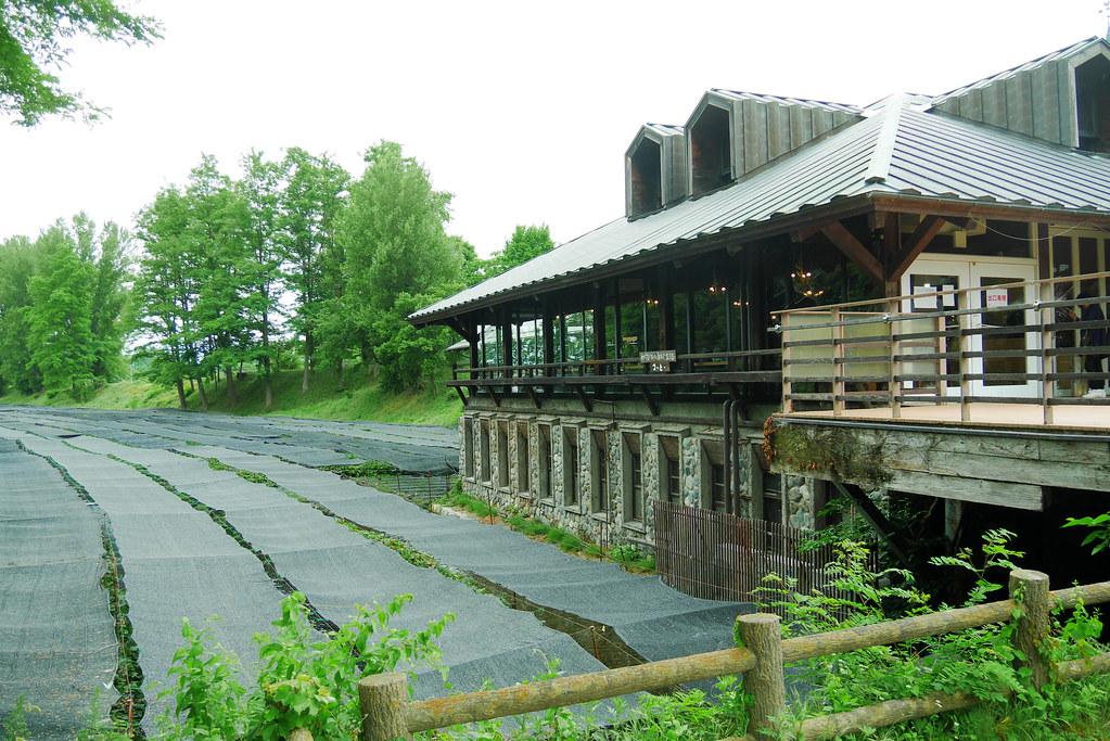 信州安曇野大王わさび農場のレストランの外観