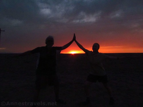 Dancing in the sunset at the Ah-She-Sle-Pah Wilderness Official Parking Area, New Mexico