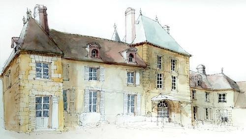RICHEBOURG Château façade est