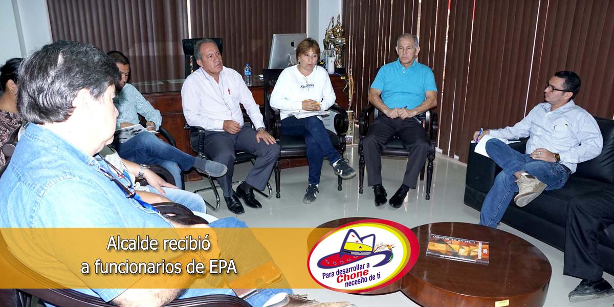 Alcalde recibió a funcionarios de EPA