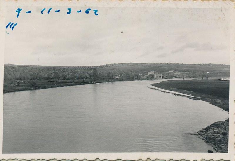 Playa de Safont y río Tajo en noviembre de 1962. Fotografía de Julián C.T.