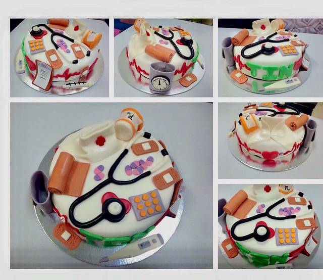 Nurse Inspired Themed Cake by Ma. Clarissa Cortes-Baylosis of Charms CupCakes