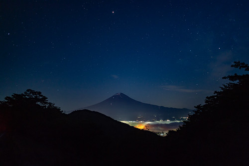 Fuji and the Starry Sky