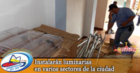 Instalarán luminarias en varios sectores de la ciudad