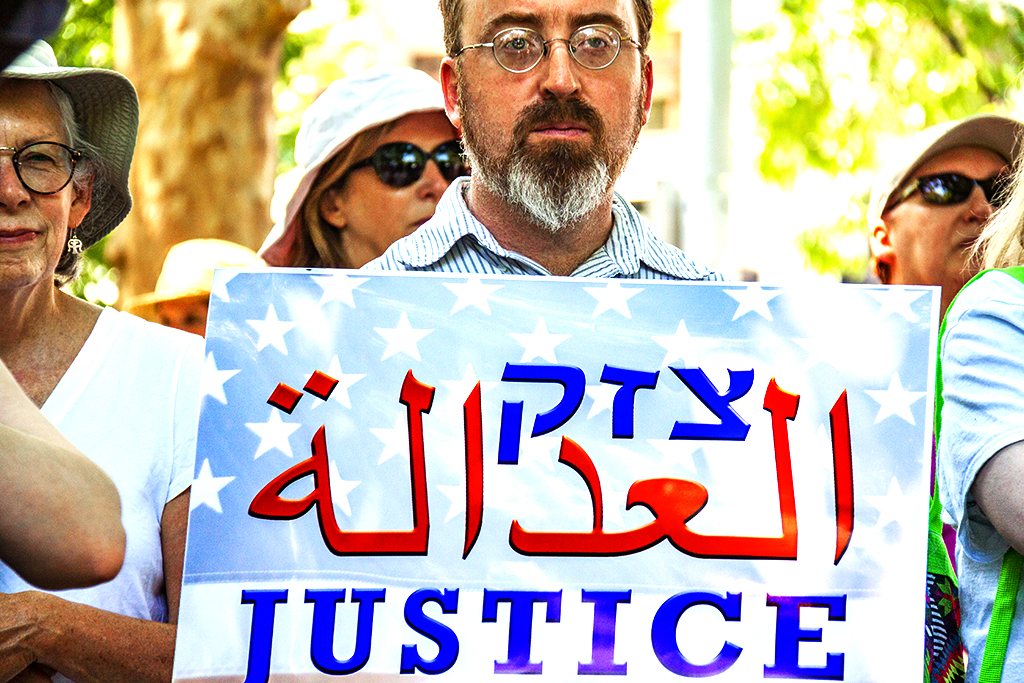 JUSTICE in Hebrew, Arabic and English--Logan Circle