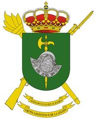 Conoce los #SímbolosEjércitodeTierra Escudo del Grupo Logístico II de #LaLegión'.