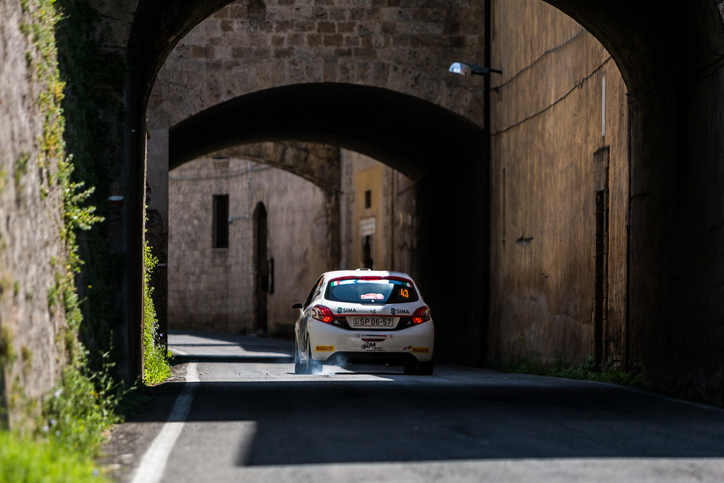 43 VITA Mattia (ita), OMETTO Pietro élia (ita), Peugeot 208, action during the 2018 European Rally Championship ERC Rally di Roma Capitale,  from july 20 to 22 , at Fiuggi, Italia - Photo Thomas Fenetre / DPPI