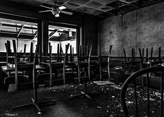 Abandoned Shoney's: Tables & Chairs Oh My!