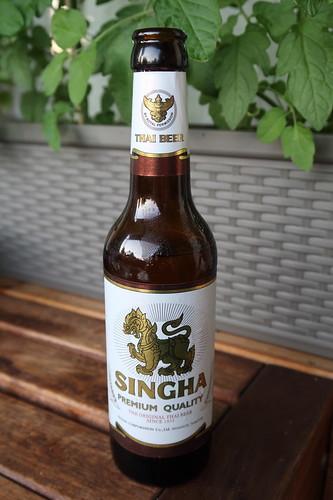 Singha (= thailändisches Lagerbier)