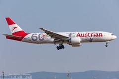 OE-LPF Austrian Airlines Boeing 777-2Q8(ER) 60th birthday livery (FRA