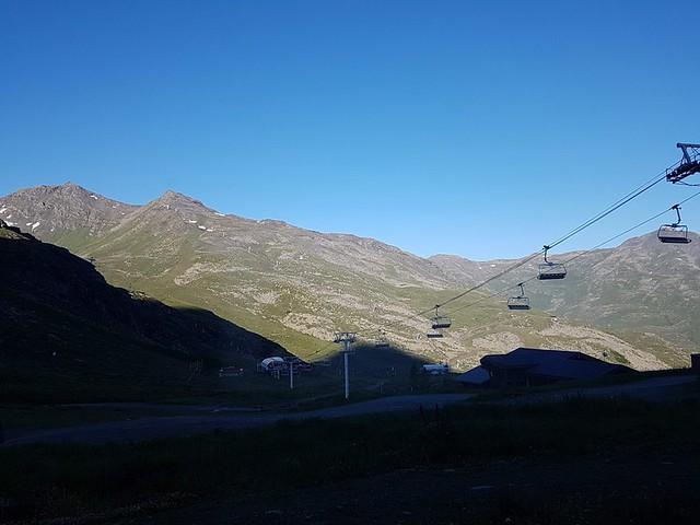 14/07/2018 au 28 Val Thorens – 18/07/2018 Sommet du Caron 3200m par téléphérique - vue Mont-blanc et alentours 360°
