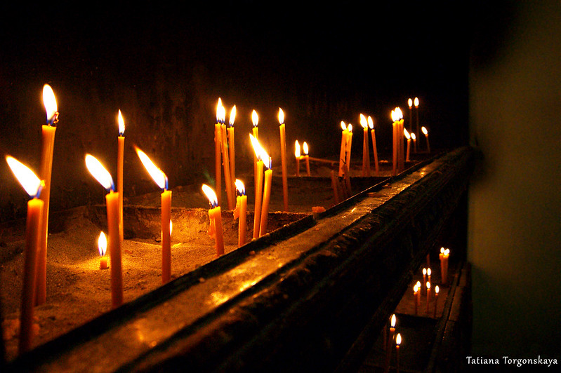 Свечи в церкви Св.Николая