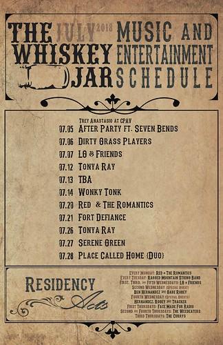 Whiskey Jar Calendar 07.18