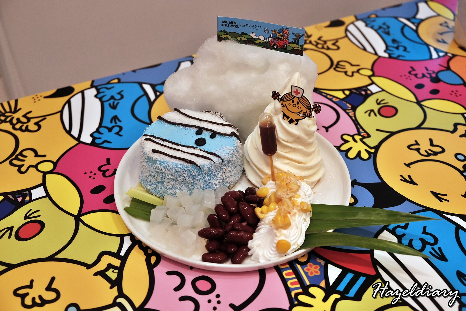 Kumoya Mr Men Little Miss-Mr Bump Pow-Wow Pandan Sponge Cake