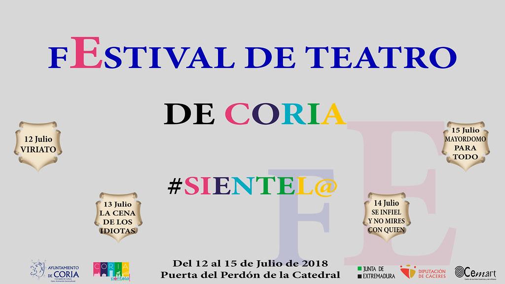 Coria acogerá una nueva edición del Festival de Teatro del 12 al 15 de julio