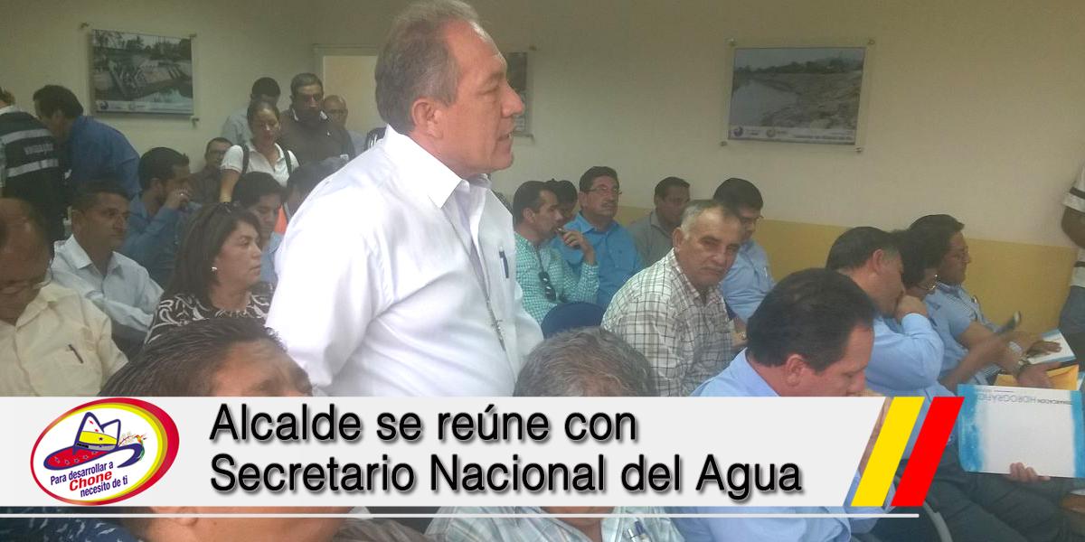 Alcalde se reúne con Secretario Nacional del Agua