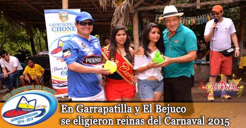 En Garrapatilla y El Bejuco se eligieron reinas del Carnaval 2015