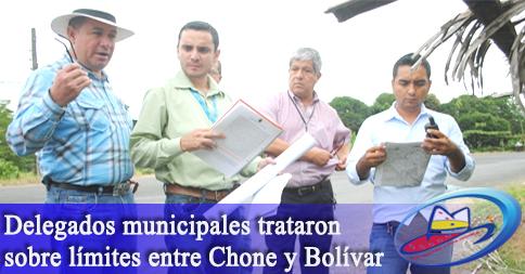 Delegados municipales trataron sobre límites entre Chone y Bolívar