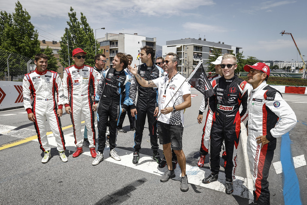 MONTEIRO Tiago (por), Boutsen Ginion Racing, portrait and her students during the 2018 FIA WTCR World Touring Car cup of Portugal, Vila Real from june 22 to 24 - Photo Francois Flamand / DPPI