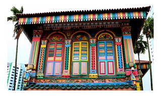 A colourful facade