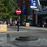 Empty plinth on Fishergate - where is the bollard?