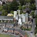 Aerial of Whitworth Brothers flour mill in Holbeach in Lincolnshire